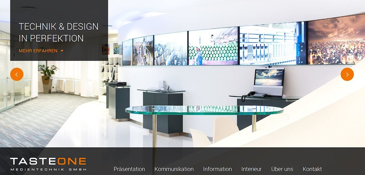 Homepage des Monats Juli 2017: tasteone-medientechnik.de ...